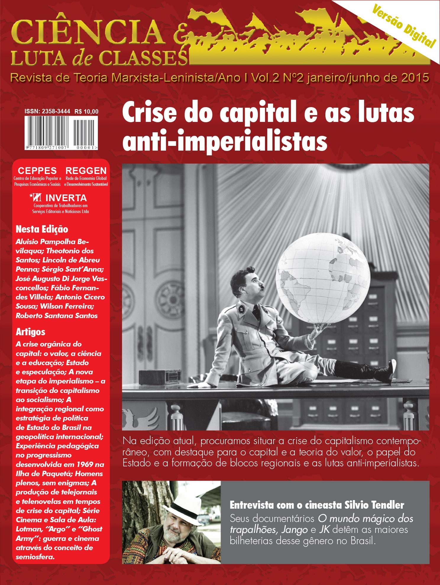 Visualizar v. 2 n. 2 (2015): Crise do Capital e as lutas anti-imperialistas, jan./jun. 2015
